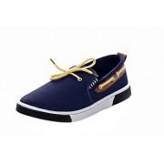 Azotic mens Canvas Shoes (417-blue-brn) (6 M UK Men)