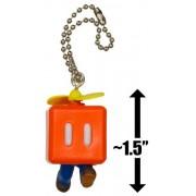 "Propeller Block Mario ~1.5"" Mini Figure Charm: Super Mario 3D Land Dangler Series"