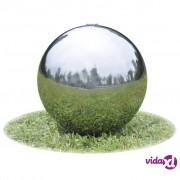 vidaXL Vrtna kugla za fontane s LEDicama od nehrđajućeg čelika 40 cm