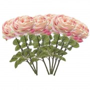 Geen 8x Lichtroze rozen kunstbloemen 66 cm