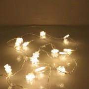 Perdea luminoasa tip turturi cu fulg de nea 90 LED-uri albe lumina calda cablu transparent WELL