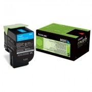 LEXMARK 802C Cartridge for CX310dn/310n/410de/410dte/410e/510de/510dhe/510dthe - 1 000 pages, Cyan (80C20C0)