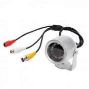 12-IR Vision Nocturna Impermeable camara de seguridad de vigilancia con sonido Audio (PAL)