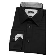 Košile SLIM černá s drobnou kostkou Avantgard 119-2301-41/42/182