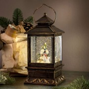 Decorative winter lantern Snowman