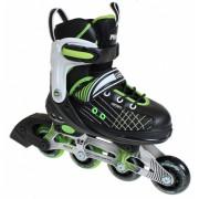 Move Inline Skates Urban Junior Zwart Groen Maat 29 33