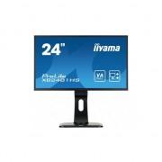 Monitor Iiyama LED 23.6'' XB2481HS-B1 Full HD, 6ms, DVI-D, HDMI, boxe, Negru