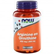 Now Arginine en ornithine 500/250mg 100 capsules