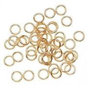 Beadaholique 100-Piece Open Jump Rings, 6mm, 22K Gold