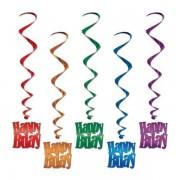 Hangdecoratie Whirls Happy Birthday