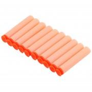 ER 10 Piezas Balas Del Arma De Juguete Nerf Eva Soft Balas Blaster Naranja Flexibles.