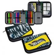 Penar Hot Weels, 1 compartiment, echipat, pentru scoala,13,5x20,5x4 cm