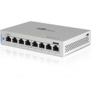 Comutator , Ubiquiti , UniFi Gigabit US/8 8 porturi Gigabit UniF 1 PoE Passthrough Port , alb
