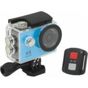 Camera video sport Ultra HD 4K WiFi cu afisaj LCD si microfon incorporat culoare Albastru