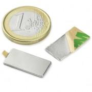 Magnet neodim bloc cu autoadeziv, 20x10x1 mm, putere 900 g
