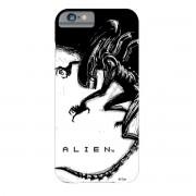 celulă telefon acoperi Străin - iPhone 6 - Xenomorph Negru & alb Comic - GS80223