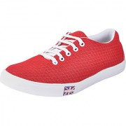 Fausto MenS Red Sneakers Lace-Up Shoes (FST 1052 RED)