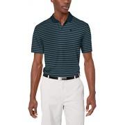Nike Polo de Golf para Hombre, diseño de Rayas Victorias, Faded Spruce/Midnight Spruce/Black, Small