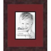 ArtToFrames Arte a marcos doble-multimat 634-594/89-FRBW26061 alfombrilla de fotos con Collage enmarcado alfombra doble con 1-6 x 8 aberturas y café exprés marco