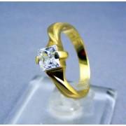 Zlatý prsteň dámsky so zirkónom žlté zlato VP56350Z