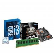 Combo Actualización Pc Intel Core I3 7°mother H110 4gb Ddr4