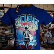 Guru T-shirt uomo Guru mezza manica a girocollo con stampa logo surf