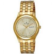 Titan Analog Gold Round Watch -1648YM05