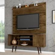 Rack e Painel Safira - Madeira Rústica - Móveis Bechara