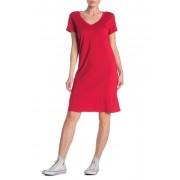 Michael Stars Cassandra V-Neck T-Shirt Dress SALSA