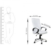 DZYN Furnitures Benize in White Leatherette Office Executive Chair (White)