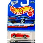 Hot Wheels 2000-062 First Editions RED Ferrari 550 Maranello 1:64 Scale