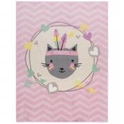 Tapis Mood Feather Cat - rose - 95x125 cm - Leen Bakker