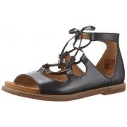 Clarks Women's Corsio Dallas Black Leather Fashion Sandals - 5 UK/India (38 EU)