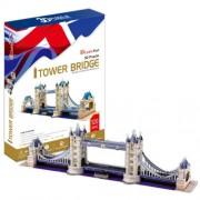 London Tower Bridge - World Great Architecture - 120 Pieces 3D Puzzle - Cubic Fun Series