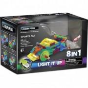 Kit Constructie cu Lumini Laser 8 in 1 - Masina Sport