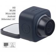 Somikon Mini-Selfie-Cam mit WLAN und App-Steuerung, 720p, Klebepad & Magnet