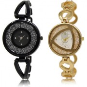 The Shopoholic Black Silver Combo Treny and Precious Black And Silver Dial Analog Watch For Girls Watches For Women