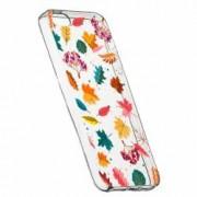 Husa Silicon Transparent Slim Frunze 99 Apple iPhone 5 5S SE