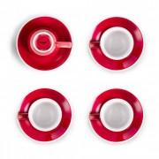 """Set von 4 Espressotassen mit Untertassen Loveramics """"Egg Red"""", 80 ml 4 Stk."""