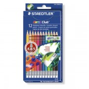 Creioane colorate Staedtler cu radiera 12 bucati / set ST14450NC12