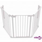 Noma sigurnosna ograda s 3 panela Modular metalna bijela