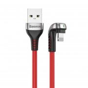 Baseus U-Shaped Mobile Game Cable - Lightning USB кабел за iPhone, iPad и iPod с Lightning (100 см) (червен)
