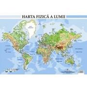 Harta fizica a lumii - plansa A2/Colectiv Aramis