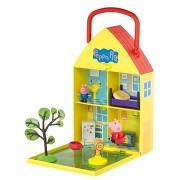 Peppa Pig - Kis kertes ház + figura és tartozékok