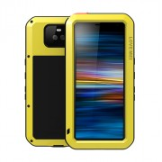 LOVE MEI Dust-proof Shock-proof Splash-proof Defender Phone Casing for Sony Xperia 10 - Yellow