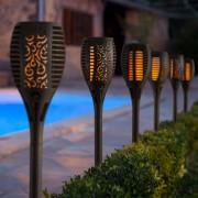 Kerti napelemes fáklya lámpa 56 cm meleg fehér
