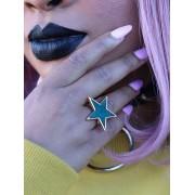 Geometric Figure Black Resin Ring With Inside Design