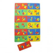 Clastik Learning Playing Vowels Alphabets Meaning A to Z and Numbers 1 to 10 EVA Play Mat for Kids with 36 Tiles of 1 cm Thickness
