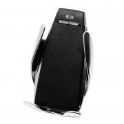 Incarcator si suport telefon Auto Wireless, prindere in grila ventilatie, QI incarcare rapida