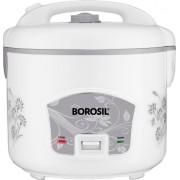 Borosil BRC18MPB24 Rice Cooker, Food Steamer(1.8 L, White)
